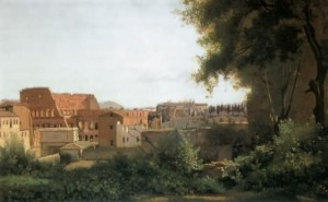 """View of the Farnese Gardens in Rome"" - 1826"