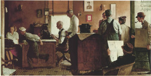 Norman Rockwell Visits a County Editor - 1946