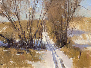 """3/10/12, ATV Trail' - 6""x 8"" - Oil"
