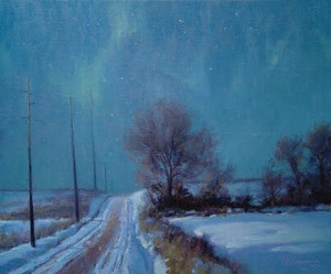 """Winter Solstice Nocturne"" - 20""x 24"" - Oil"