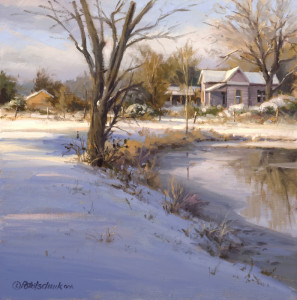 """Brisk Evening"" - 14""x 14"" - Oil   (PleinAir Magazine Award, Art Renewal Center Salon International 2014)"