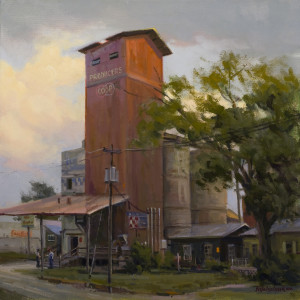 """The Old Mill"" - 16""x 16"" - Oil  (Best Landscape, National Oil and Acrylic Painters Society On-line Open International 2013)"