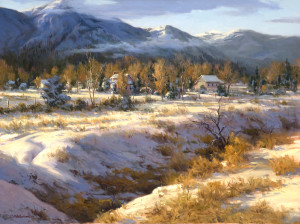 """Winter's Dance"" - 30""x 40"" - Oil   (3rd Place, Landscape - Art Renewal Center Salon International 2012)"