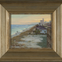 Evening at the Beach - 8 x 10 - Framed