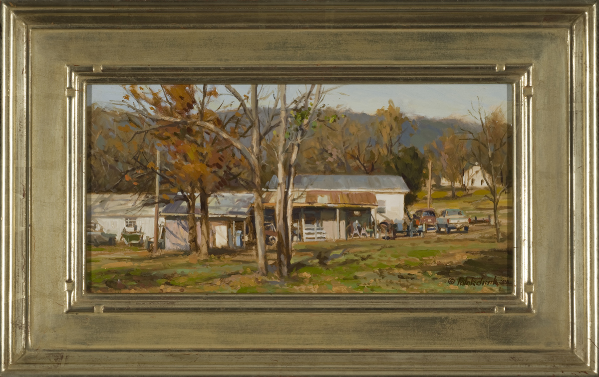 Rural Estate - 9 x 18 - Framed