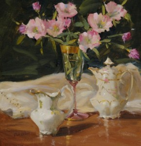 """China and Primrose"" - 12""x 12"" - Oil"