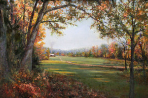 "Dot Courson - ""Fall Retreat"" - 24""x 36"" - Oil"