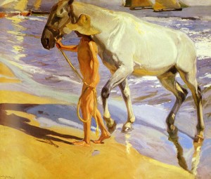 """The Horse's Bath"" - 81""x 98"" - Oil (1909)"
