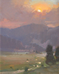 """Moraine Valley"" - 8""x 10"" - Oil  (Best of Show and Artist's Choice award; 2012 Plein Air Rockies)"