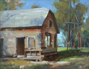 """Textures"" - 11""x 14"" - Oil  (Artist's and People's Choice award; 2013 Light on the Land Plein Air Invitational)"