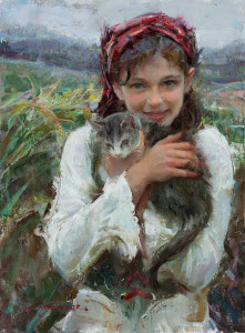 "Daniel Gerhartz - ""Holding Her Close"" - 24""x 18"" - Oil"