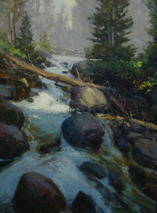 "Rusty Jones - ""Runoff"" - 18""x 24"" - Oil"