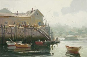 """Rockport Harbor"" 20""x 30"" - Oil"