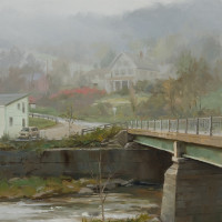 Across the Bridge - 16 x12 - w