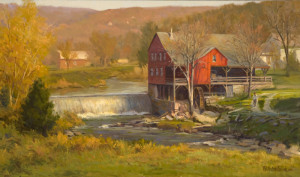 """Weston Grist Mill"" - 16""x 27"" - Oil"