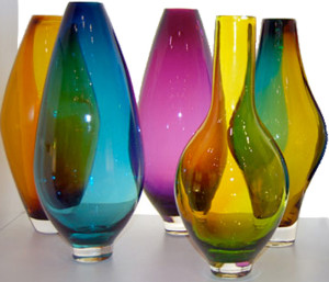 Colored glass collection
