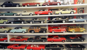 Here's a serious model car collection, one I wouldn't mind owning.