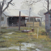 Misty Morning (Plein Air) -w