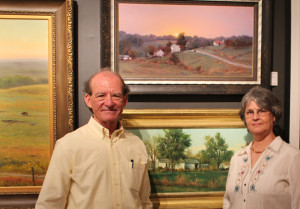 "With my wife, Marcia, before ""Calm Settles Over the Land"" and ""Rural Life"". Without Marcia's total support, sacrifice, and encouragement, my fine art career would not have been possible."