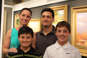 Our son, Jonathan, with his lovely wife Tifani, and their two sons, Gage (left) and Riley.