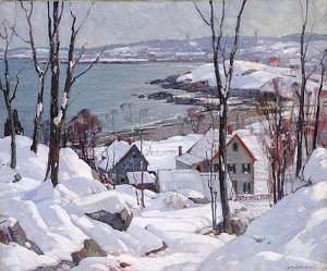 """Rockport In Winter"" - 29.67""x 38"" - Oil"