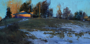"Tim Deibler - ""Evening in Questa"" - 12""x 24"" -  (Award of Excellence)"