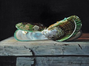 "Sheri Farabaugh - ""Green Lips"" - 9""x 12"" - (Award of Excellence)"