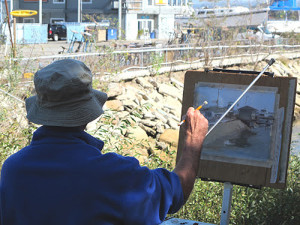 Painting at Fisherman's Wharf.