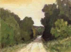 """Jim Henderson - """"Country Road"""" - 9""""x 12"""" - Oil (Equilateral triad: Orange, Green, Violet)"""