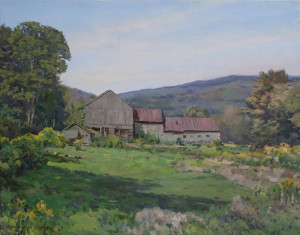 """""""Barn and Goldenrod"""" - 22""""x 28"""" - Oil"""