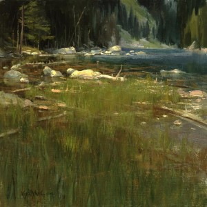 """Along Dream Lake"" - 17"" x 17"" - Oil"