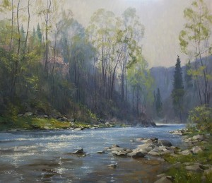 """Spring on the Tohicken"" - 39"" x 45"" - Oil"