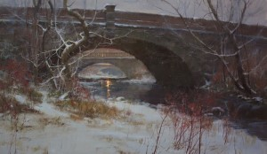 """Twilight Along Swan Creek"" - 21"" x 36"" - Oil"