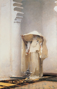 "John Singer Sargent - ""Fumee d'Ambre Gris (Smoke of Ambergris)"" -  55""x 36"" - Oil - 1880 (This is one of the first paintings purchased by the Clark's)"