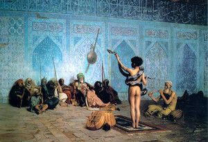 "Jean-Leon Gerome - ""The Serpent Charmer"" - 33""x 48"" - Oil - 1880"