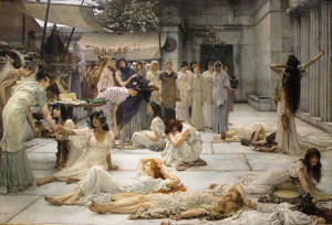 "Sir Lawrence Alma-Tadema - ""The Women of Amphissa"" - 48""x 72"" - Oil - 1887 (This is one stunning, amazing, unbelievable painting)"