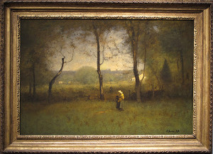 "George Inness - ""The Wood Gatherers: An Autumn Afternoon"" - 30""x 45"" - Oil - 1891"