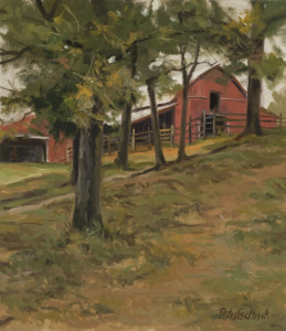 "John Pototschnik - ""Kemp's Barn"" - 13"" x 11"" - Oil  (Honorable Mention)"