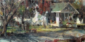 "Ted Clemens - ""The Doctor's House"" - 10"" x 20"" - Oil  (Best of Show)"