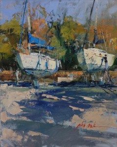 "John Cook - ""Morning Bath"" - 20"" x 16"" - Oil  (Award of Excellence)"