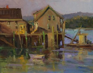 "Ann Larsen - ""Fading Light"" - 11"" x 14"" - Oil  (Award of Merit)"