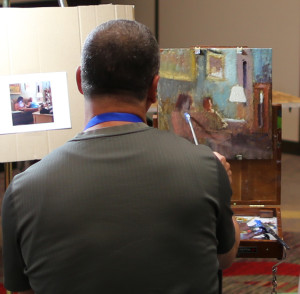 "Joseph Gyurcsak not only taught an excellent lesson on the ""Successful elements of design in painting"", but also gave a painting demonstration."