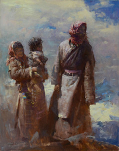 "Huihan Lin - ""At Mt. Tangulla Pass, Northern Tibet"" - 30"" x 24"" (Gold Medal, Master Division)"