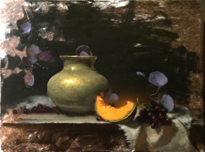 Jeff Legg created this painting  on the last day of the convention.