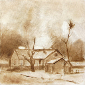 Raw Umber drawing and block-in
