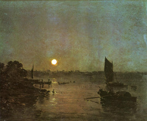 "Joseph Mallord William Turner (1775-1851) - ""Moonlight, A Study at Millbank"" - 12.4"" x 15.94"" - Oil  (1797)"
