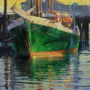 """In a Beautiful Pea Green Boat"" - 24"" x 24"" - Oil  (Second Place, Oil Painters of America Fall Showcase - 2014)"