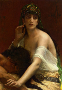 "Alexandre Cabanel (1823-1889) - ""Samson and Delilah"" - 36.5"" x 25.5"" - Oil  (1878)"