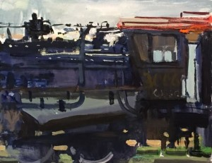 """""""The Galesburg Line"""" - 8"""" x 10"""" - Acrylic"""