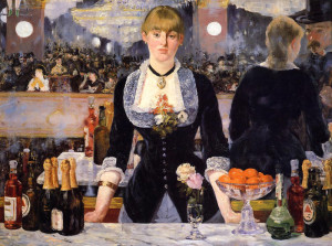 "Eduard Manet (1832-1883) - ""A Bar at the Folies Bergere""  - 37"" x 51"" - Oil  (1881)"